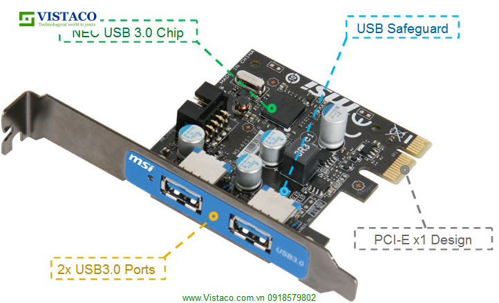 Card PCI Ex 1.0 to USB 3.0