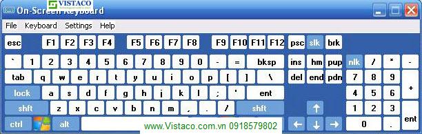 Dùng bàn phím ảo trong Win để kiểm tra bàn phím thật