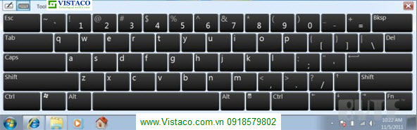 on screen keyboard Windown7
